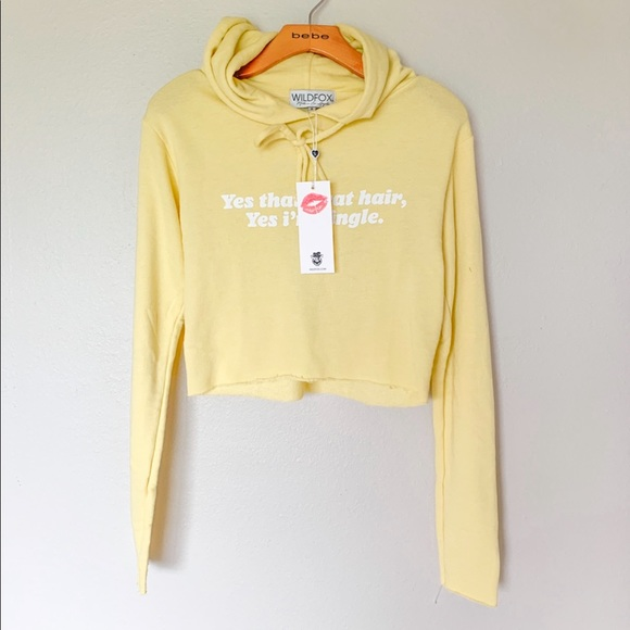Wildfox Tops - Wildfox Cropped sunshine single cropped hoodie